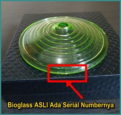 bioglass asli ada kode serial number